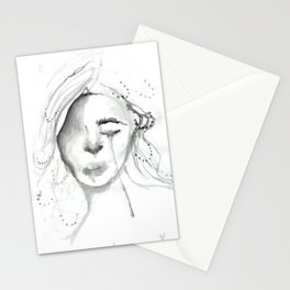 sad gurl Stationery Cards