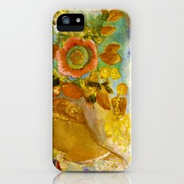 Two Young Girls among Flowers - Digital Remastered Edition iPhone Case