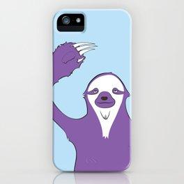Sloth says HI iPhone Case