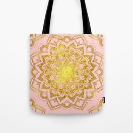 Golden Mandala i Tote Bag