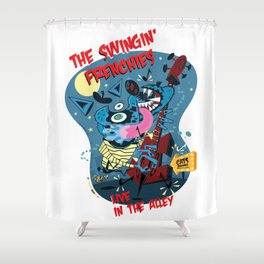 The Swingin' Frenchies Shower Curtain
