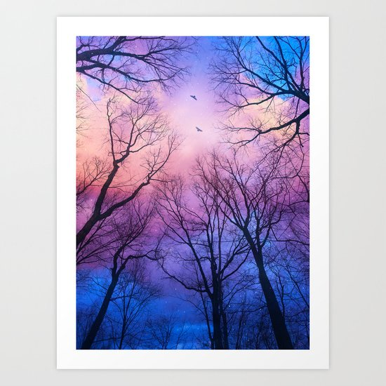 A New Day Will Dawn  (Day Tree Silhouettes) Art Print