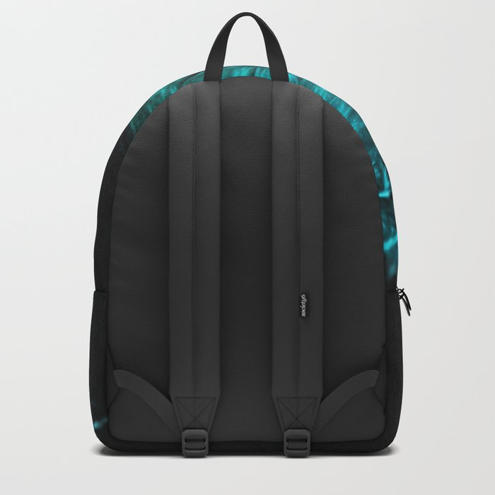 Feather in green-turquoise Backpack