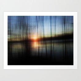 Sunset Blur Art Print