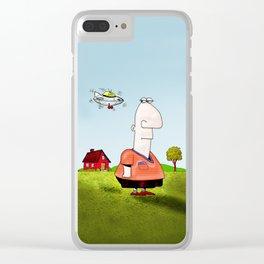 Little UFO Clear iPhone Case