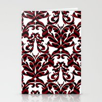 damask Stationery Cards featuring Damask by Annie Skrmetti