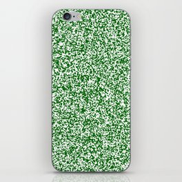 Tiny Spots - White and Dark Green iPhone Skin