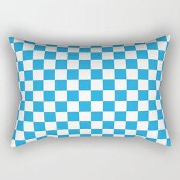 Oktoberfest Bavarian Large Blue and White Checkerboard Rectangular Pillow