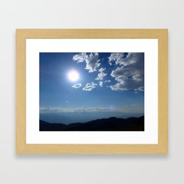 California into Nevada view Framed Art Print