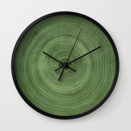 Tree Rings Pattern Wall Clock