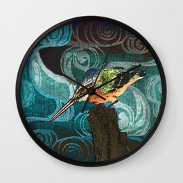 The King Fisher stake out Wall Clock