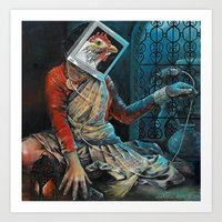 Sitala Unplugged Art Print