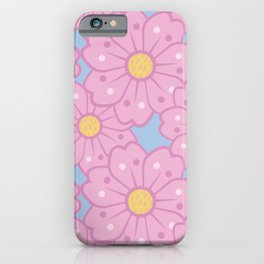 Oversized Cherry Blossoms Pattern iPhone Case