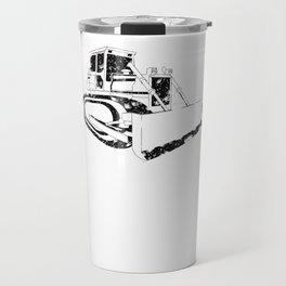 Dozer Construction Funny Cute Backhoe Bulldozer Black Travel Mug
