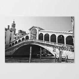 Venice Italy, Rialto bridge Canvas Print