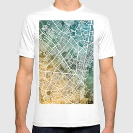 Bogota Colombia City Map T-shirt