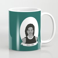 obama Mugs featuring Michelle Obama by Illustrated Women in History