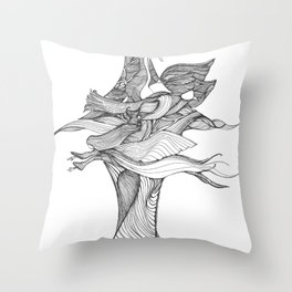 Wings and Things Throw Pillow