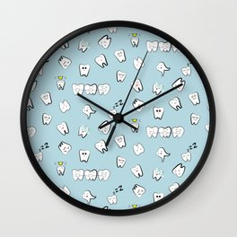 Teeth pattern Wall Clock