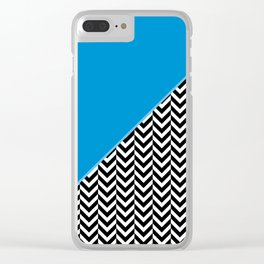 Chevron and Blue Clear iPhone Case