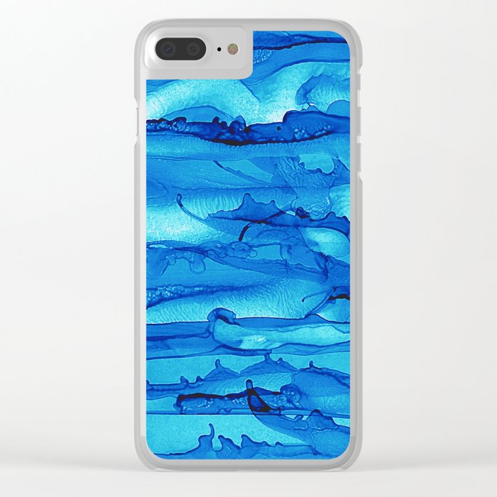 Alcohol Ink Seascape 2 Clear iPhone Case