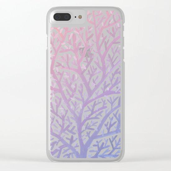 Fan Coral – Rose Quartz & Serenity Clear iPhone Case