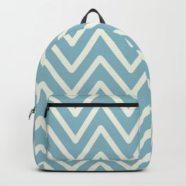 Chevron Wave Blue Petit Four and Glass Green Backpack