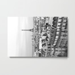 Paris Rooftops and the Eiffel Tower Metal Print