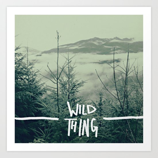 Wild Thing: Skagit Valley, Washington Art Print