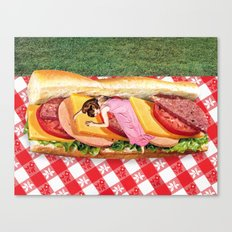 OUT TO LUNCH Canvas Print