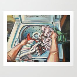 Complacency, Laundry Art Print