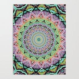 Black Pastel Mandala 012018 Poster