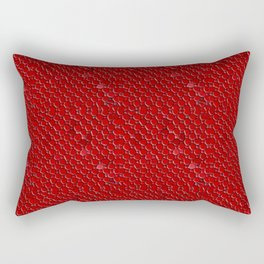 Red Mosaic Small Print Rectangular Pillow