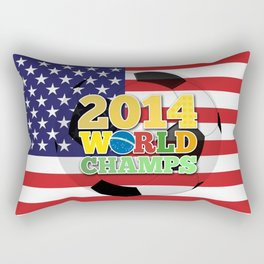 2014 World Champs Ball - USA Rectangular Pillow