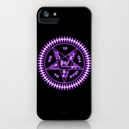 Sebastian Michaelis Sigil Light (black bg) iPhone Case