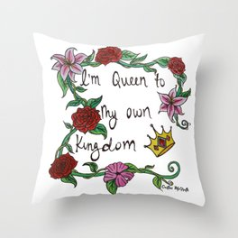 Queen Watercolor Throw Pillow