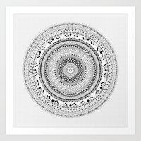 BW Mandala Art Print