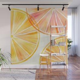 Sunny Citrus Wall Mural