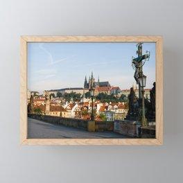 Castle from Charles bridge in Prague Framed Mini Art Print