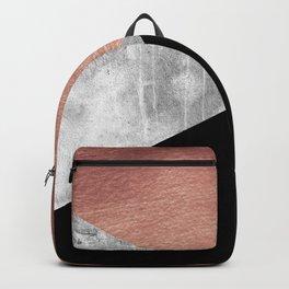 Scandinavian Style Geographic Bronze Art Backpack