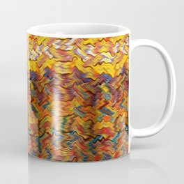 Multicolored wavy lines background Coffee Mug