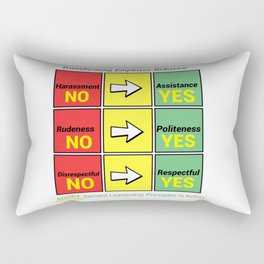 Stop Workplace Bullying Project: Employee Behavior Rectangular Pillow