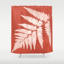 From the forest - soft coral Shower Curtain