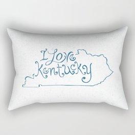 I Love Kentucky in Blue Rectangular Pillow