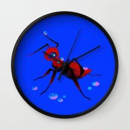 Red velvet ant Wall Clock
