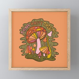 Think Happy Thoughts Framed Mini Art Print