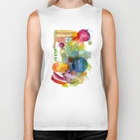 olivia joy Biker Tanks featuring Joy by Young Ju