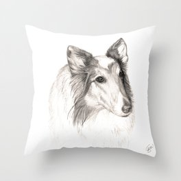 Remembering Maggie :: A Tribute to a Collie Throw Pillow