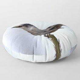 Watercolor Bird, Canada Jay 02, Poudre Trail, RMNP, Colorado Floor Pillow