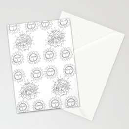 coloring book sunshine Stationery Cards